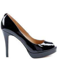 b0157ad2a Michael Kors - Black Leather Court Shoes - Lyst