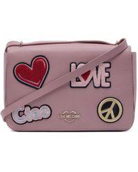 e6c657cfd2e Love Moschino Leather Heart Lock Mini Bag in Orange - Lyst