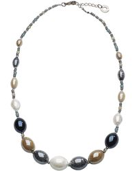 Antica Murrina - Grey Other Materials Necklace - Lyst