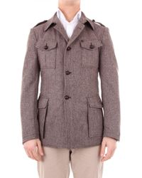 Tagliatore - Brown Wool Coat - Lyst