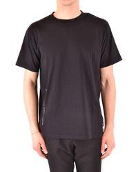 7b52a0cd1 Moncler - Men's Mcbi37916 Black Cotton T-shirt - Lyst