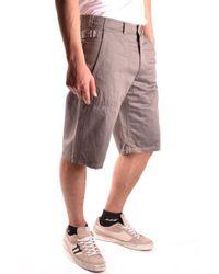 Yohji Yamamoto - Beige Cotton Shorts - Lyst