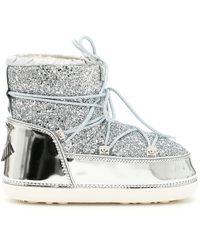 Chiara Ferragni - Silver Polyester Ankle Boots - Lyst