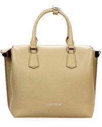 Ermanno Scervino Beige Leather Emily Medium Handbag