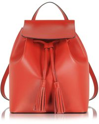 Le Parmentier - Red Leather Backpack - Lyst