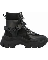 Prada - Black Leather Ankle Boots - Lyst