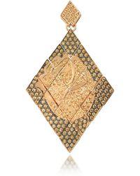 Azhar - Gold Steel Earrings - Lyst