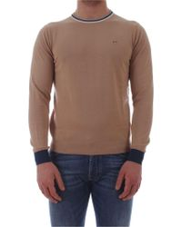 Sun 68 - Beige Cotton Sweater - Lyst
