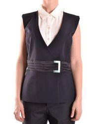 Elisabetta Franchi - Black Polyamide Vest - Lyst