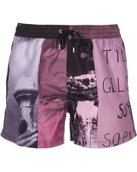 Paul Smith Pink Polyester Trunks