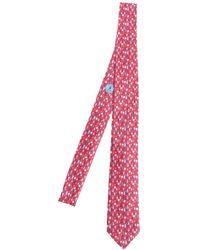 Ermenegildo Zegna - Red Silk Tie - Lyst