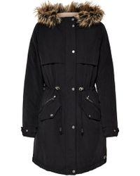 6248ca9bb AKIRA Black Mamba Netted Coat in Black - Lyst