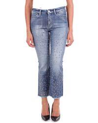 PT01 - Blue Cotton Jeans - Lyst