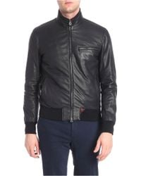 c8e27fc87 Lyst - Ted Baker Wildone Biker Leather Jacket in Black for Men