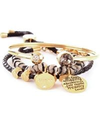 Guess - Black Metal Bracelet - Lyst