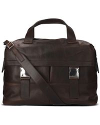 Orciani - Brown Leather Messenger Bag - Lyst