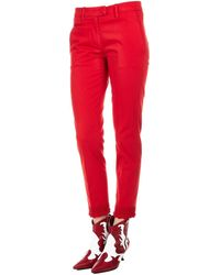 Dondup Red Cotton Trousers