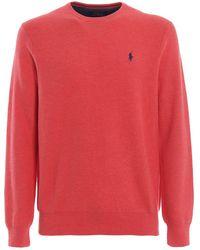 Ralph Lauren - Pink Cotton Jumper - Lyst