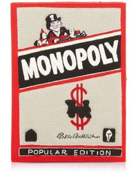 Olympia Le-Tan - Cotton And Wool Monopoly Popular Edition Book Clutch - Lyst
