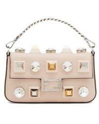 Fendi Beige Leather Handbag
