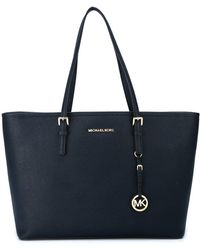 Michael Kors Blue Leather Tote