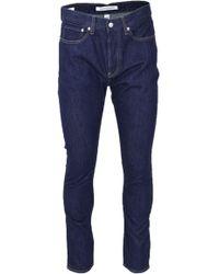 Calvin Klein - Blue Cotton Jeans - Lyst