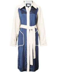 Alexander Wang - Blue Cotton Trench Coat - Lyst