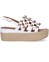 Inuovo - White Leather Wedges - Lyst