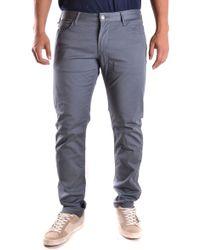Armani Jeans - Blue Cotton Jeans - Lyst