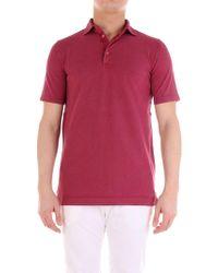 Cruciani Red Cotton Polo Shirt