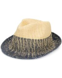 ccb78a86fea Paul Smith Raffia Trilby Hat in Natural for Men - Lyst
