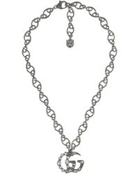 d9712faf9 Gucci Necklace In Silver With Donald Duck in Metallic - Lyst