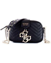 Guess - Black Polyester Shoulder Bag - Lyst