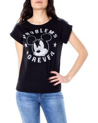 Disney Black Cotton T-shirt