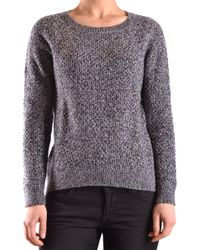 Sun 68 - Grey Wool Sweater - Lyst