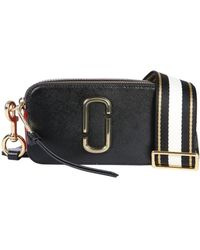 97fc32f94922 Lyst - Marc Jacobs Double J Pebble Leather Bag Strap in Black