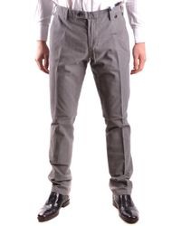AT.P.CO - Grey Cotton Trousers - Lyst