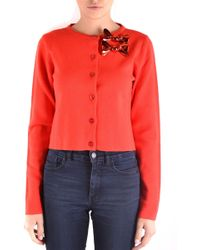 Boutique Moschino - Red Wool Cardigan - Lyst
