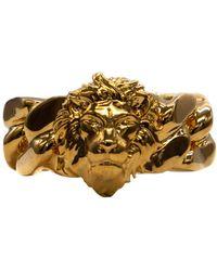 Versus - Gold Metal Ring - Lyst
