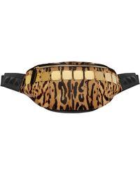 MCM - Stark Logo Plate Belt Bag In Leopard Haircalf - Lyst