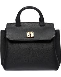 MCM - Milla Satchel In Grained Leather - Lyst