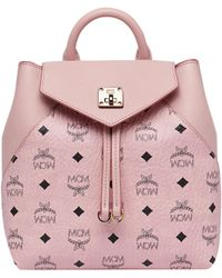 MCM - Essential Backpack In Visetos Original - Lyst