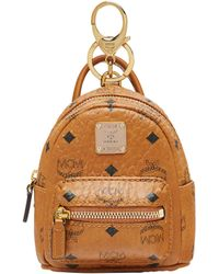 MCM - Stark Backpack Charm In Side Studded Visetos - Lyst