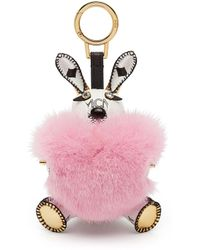 MCM | 3d L-rabbit Fur Charm | Lyst