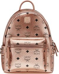 MCM - Stark Side Studs Backpack In Visetos - Lyst