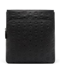MCM | Ottomar Flat Messenger In Monogrammed Leather | Lyst