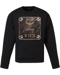 MCM - Men's Logo Plate Graphic Sweatshirt - Lyst