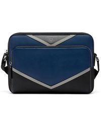 MCM | Ottomar East-west Messenger In Chevron Leather | Lyst