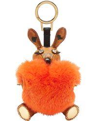 MCM - Rabbit Fur Heart Animal Charm - Lyst