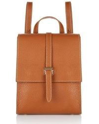 meli melo - Azzurra | Backpack | Tan And Contrast Stitch - Lyst